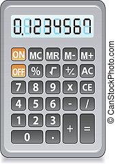 gray calculator - vector gray calculator