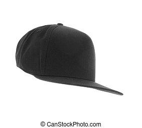 Gray cap on white background