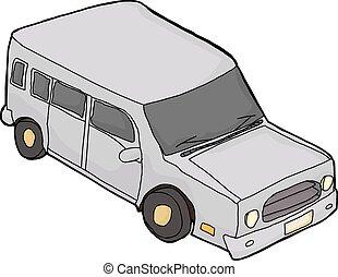Gray Cartoon SUV