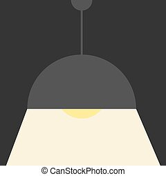 Gray ceiling lamp