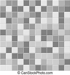 Gray ceramic tile seamless pattern. Vector background.