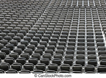 gray chairs without spectators in the sports facility