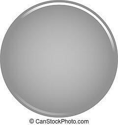 Gray circle button blank web internet icon