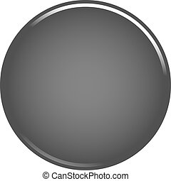Gray circle button blank web internet icon
