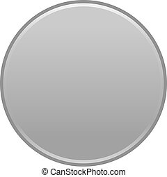 Gray circle button empty web internet icon