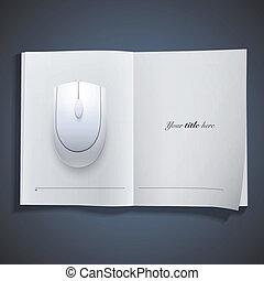 Gray computer mouse on white backgr