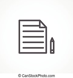 Gray Content icon on white