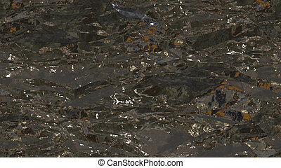 Gray Crumpled Foil Seamless Background Texture