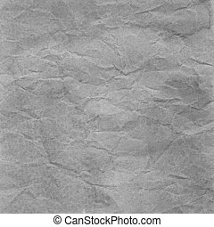 Gray crumpled paper for background