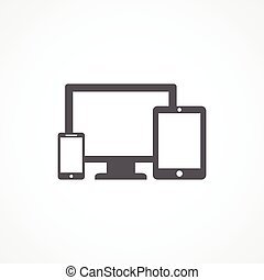 Gray Devices icon on white background