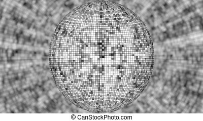 Gray Disco Ball Background.