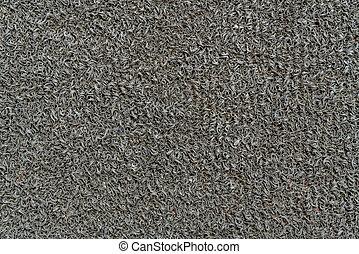 Gray door mat texture