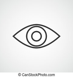 Gray eye icon. Vector illustration.