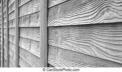 faux wood fence