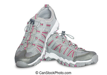 gray female shoes