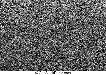 Gray Fleecy Material Texture. Black & White Detailed Fibers Fluffy Surface Background.