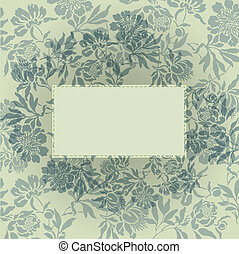 gray floral background