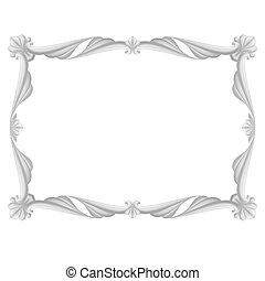 Gray frame - Gray beautiful frame. Illustration on white ...