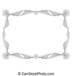 Gray frame - Gray beautiful frame. Illustration on white ...