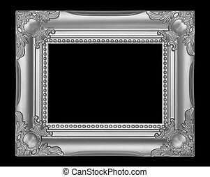 Gray frame isolated on black background
