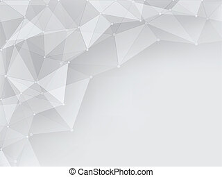 gray geometric abstract background with space