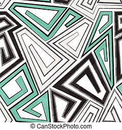 gray geometric seamless pattern with grunge effect