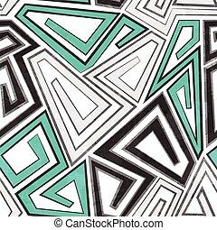 gray geometric seamless pattern with grunge effect