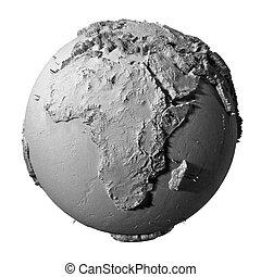 Gray Globe - Africa
