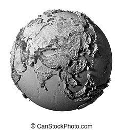 Gray Globe - Asia