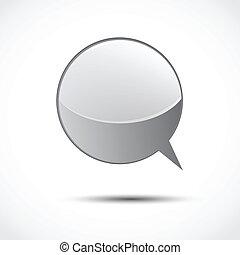 Gray glossy word speech