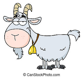 Gray Goat  - Goat Cartoon Character