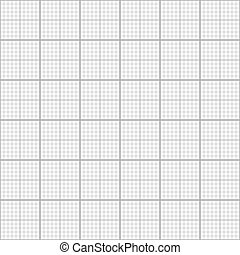 Gray graph grid on white, seamless pattern