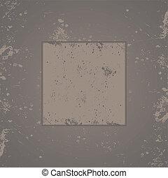 Gray grunge background frame