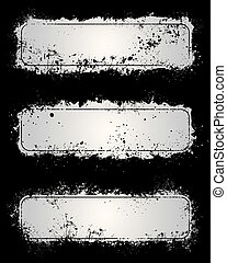 Gray grunge frames - Gray paint splatter and scratch grunge...