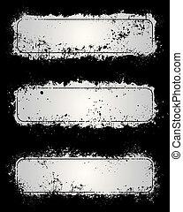 Gray grunge frames - Gray paint splatter and scratch grunge ...