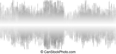 Gray halftone abstract design background in the form of wave.