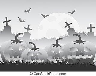 gray halloween pumpkin background