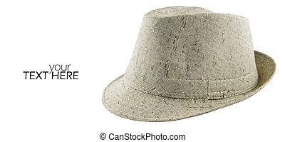 Gray hat with the copy space