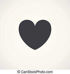 Gray heart
