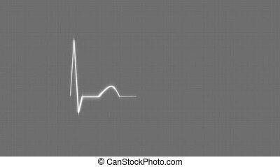 Gray HeartBeat Cardiogram.