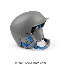 gray helmet isolated on white background