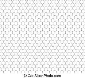 Gray hexagon grid seamless pattern
