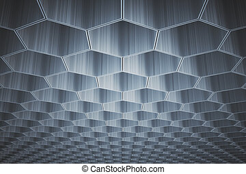 Gray honeycomb pattern - Abstract gray honeycomb/hexagon...