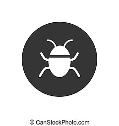 gray., icône, bogue, blanc, vecteur