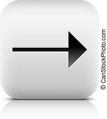 Gray icon with black arrow sign on white