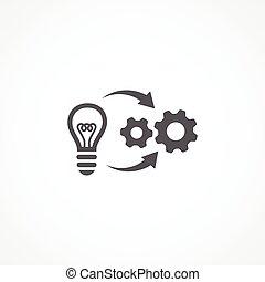 Implementation icon - Gray Implementation icon on white...