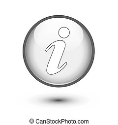 Gray information icon on white