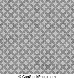 Gray Interconnected Circles Tiles Pattern Repeat Background...