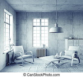 gray  interior.