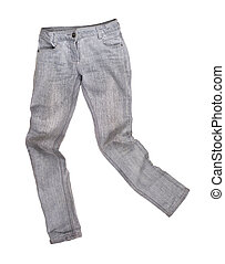 gray jeans on a white background